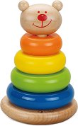 Мече - Дървена играчка за нанизване - детски аксесоар