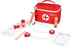 Лекарско куфарче - Детски комплект за игра от дърво -