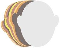 Разноцветни хартиени маски - Комплект от 50 броя за декориране