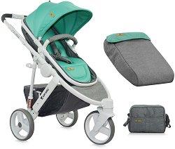 Комбинирана бебешка количка - Calibra: Green & Grey -