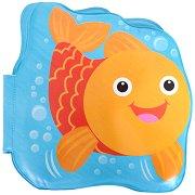 Книжка за баня с музикален бутон - Рибката -