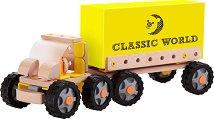 Дървено камионче - Детски конструктор от 55 части -