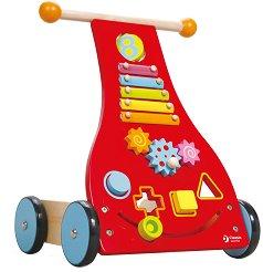 Количка за бутане - Дървена играчка - играчка