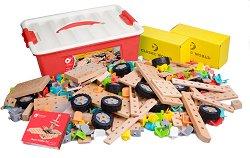 Детски дървен конструктор - 500 части -