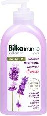 Bilka Intimo Care Lavender Intimate Refreshing Gel Wash - Освежаващ интимен гел за мъже и жени с био вода от лавандула - продукт