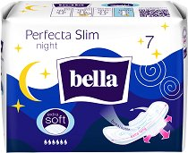 Bella Perfecta Slim Night - Нощни дамски превръзки с крилца в опаковка от 7 броя - дамски превръзки