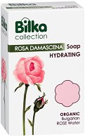 Bilka Bath Care Rosa Damascena Hydrating Soap - Хидратиращ сапун с био розова вода - гъба за баня