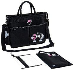 Чанта - Minnie & Mickey Mouse - Аксесоар за детска количка с подложка за преповиване - продукт