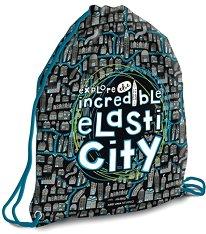 Детски спортен сак с връзки - Elasti City - творчески комплект