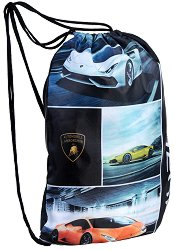 Детски спортен сак с връзки - Lamborghini - топка