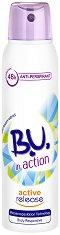 """B.U. in Action Active Release Anti-Perspirant - Дезодорант за жени против изпотяване с екстракт от диви цветя от серията """"in Action"""" -"""