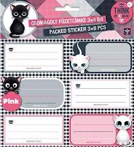 Етикети за тетрадки - Think Pink -