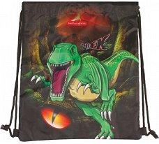 Детски спортен сак с връзки - T-Rex - раница