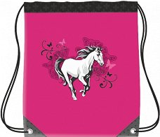 Детски спортен сак с връзки - Horse - продукт