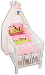 Спален комплект за бебешко креватче - Paula - 4 части -