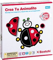 Декорирай животните - Детски образователен комплект с велкро лепенки - играчка