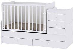 Трансформиращо се детско легло - Maxi Plus - Цвят бял -