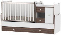 Трансформиращо се детско легло - MiniMax - Цвят бял и орех - продукт