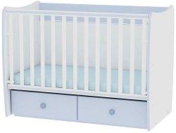 Трансформиращо се детско легло - Matrix - Цвят бял и син -