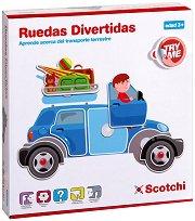 Превозни средства - Детски образователен комплект с велкро лепенки - играчка