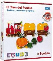 Научи се да броиш - Влакче - Детски образвателен комплект с велкро лепенки - играчка