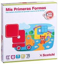 Геометричните фигури - Детски образователен комплект с велкро лепенки - играчка