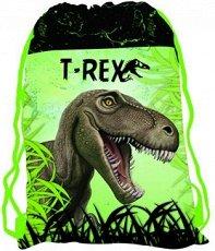 Детски спортен сак с връзки - T-Rex -
