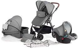 Бебешка количка 2 в 1 - Moov - С 4 колела - столче за кола
