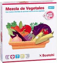 Научи зеленчуците - Детски образователен комплект с велкро лепенки - играчка