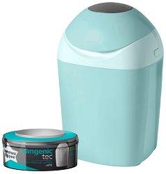 Хигиенен кош за пелени - Sangenic Tec Tub: Green - Комплект с 1 брой резервна касета -