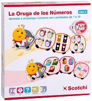 Научи се да броиш - Детски образователен комплект с велкро лепенки - играчка