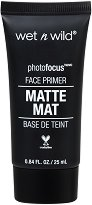 Wet'n'Wild Photo Focus Matte Mat Fase Primer Base de Teint - Матираща база за грим - четка