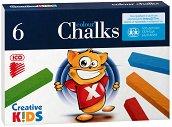 """Цветни тебешири - Комплект от 6 или 12 цвята от серията """"Creative Kids"""""""