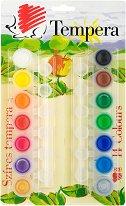 Темперни бои - Комплект от 14 цвята x 5 ml