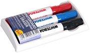 Гъба и маркери за бяла дъска - Комплект от 3 цвята