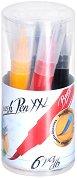Флумастери с връх тип четка - Ico XXL - Комплект от 6 или 10 цвята