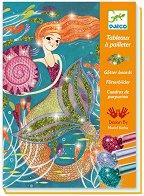Оцвети с брокат - Русалки - Творчески комплект за рисуване - аксесоар