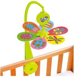 Бебешка музикална въртележка - Цвете - Играчка за бебешко креватче -