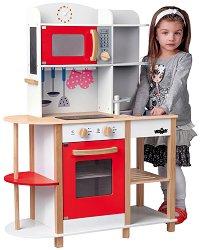 Детска кухня - Уенди - Дървена играчка с аксесоари -