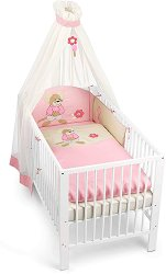 Спален комплект за бебешко креватче - Мишлето Milly - 4 части -