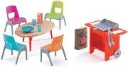 Градински мебели с барбекю - Детски аксесоари за къща за кукли -