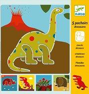 Шаблони за рисуване - Динозаври - раница