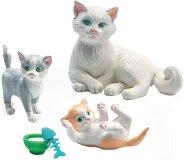 Котки - Фигури за обзавеждане на къща за кукли - фигури