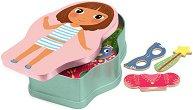 Облечи момичетата - Принцеса и фея - Детски комплект с магнити -