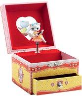 Музикална кутия за бижута - Песента на котката - кукла