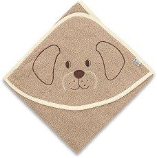 Хавлия за баня - Кученцето Hanno - Размери 100 x 100 cm -