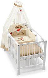 Спален комплект за бебешко креватче - Кученцето Hanno - 4 части -