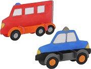 """Полицейска кола и пожарна - 2 в 1 - Дървен 3D пъзел за оцветяване от серията """"Mara"""" -"""