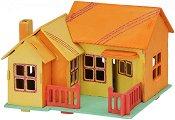 """Къща - Дървен 3D пъзел за оцветяване от серията """"Mara"""" -"""