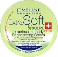 "Eveline Extra Soft Bio Olive Luxurious Regenerating Cream - Интензивно-регенериращ крем с био маслина, D-пантенол и алантоин от серията ""Extra Soft"" - гел"